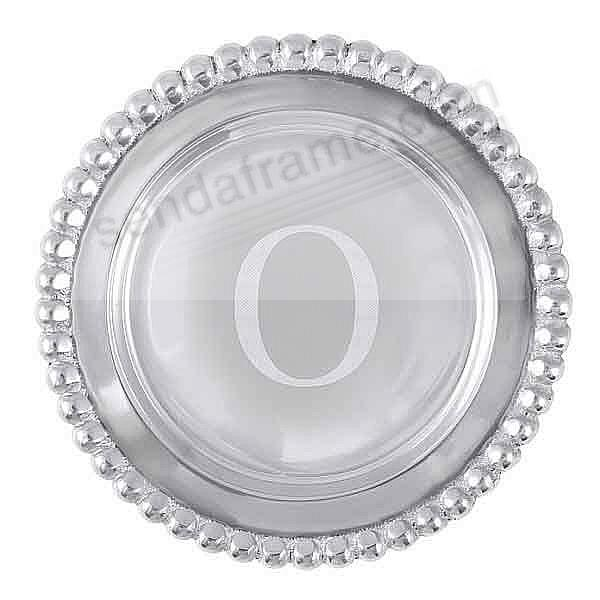 The original BEADED WINE PLATE Engraved -O- by Mariposa®