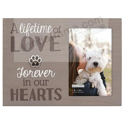 Pet Remembrance 4x6 Frame by Malden®