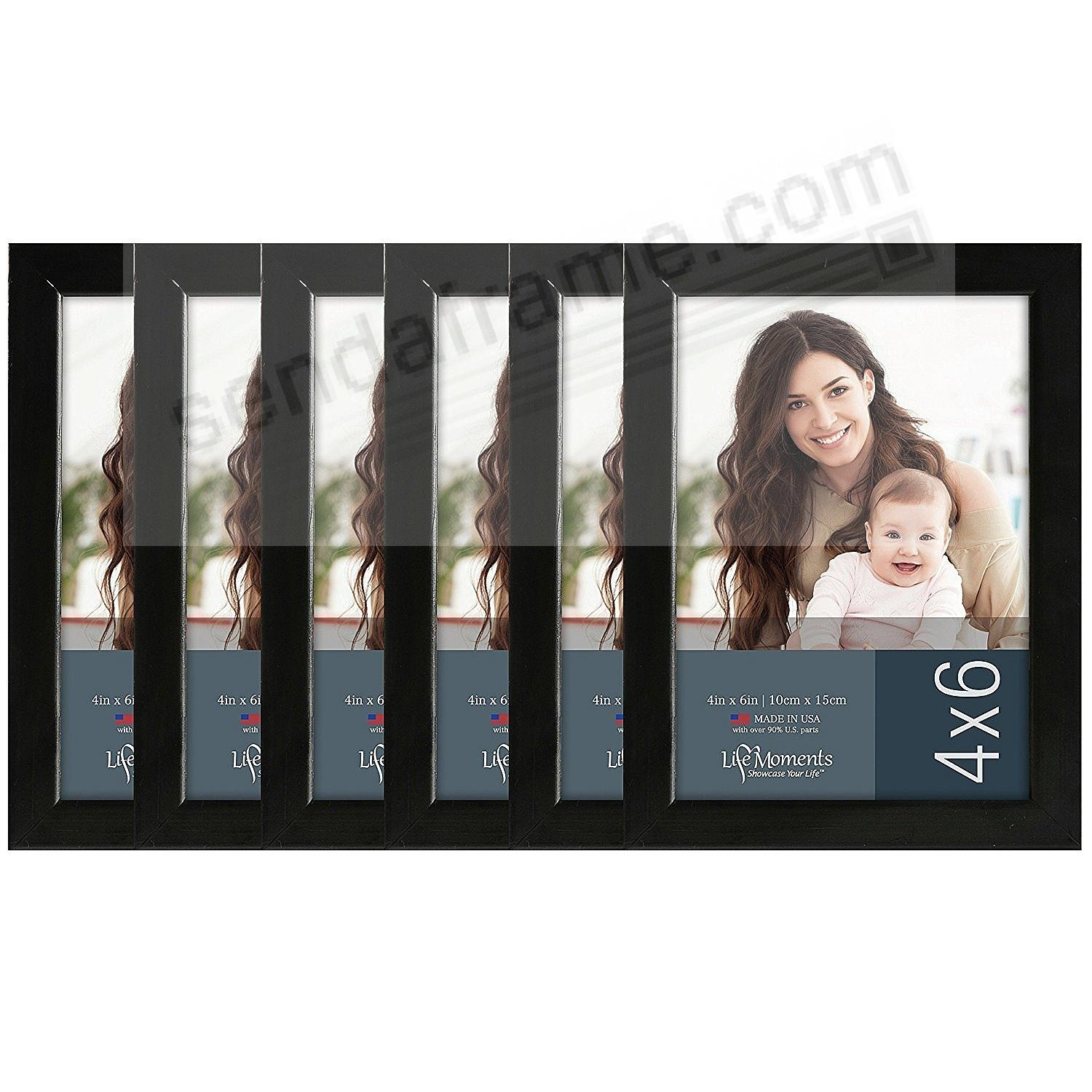 Solid Wood Black Finish 4x6 favorite by LIFE MOMENTS® (6 Pack)