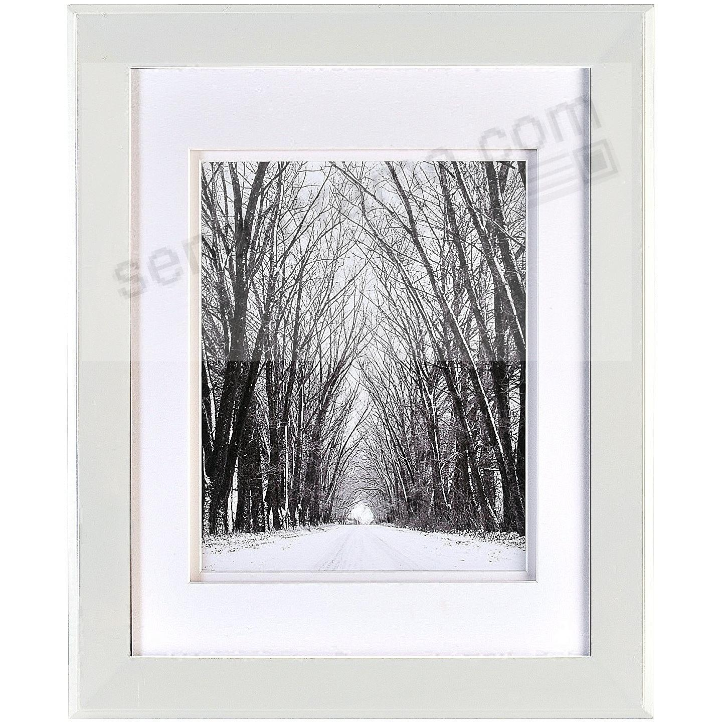 CHELSEA White Wood 8x10/5x7 DBL-Matted Frame from ARTCARE® by Nielsen®