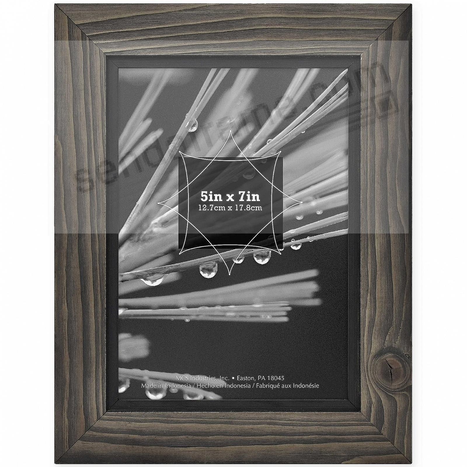 TIMBER Distressed Gray/Black Wood 5x7 Frame by MCS®