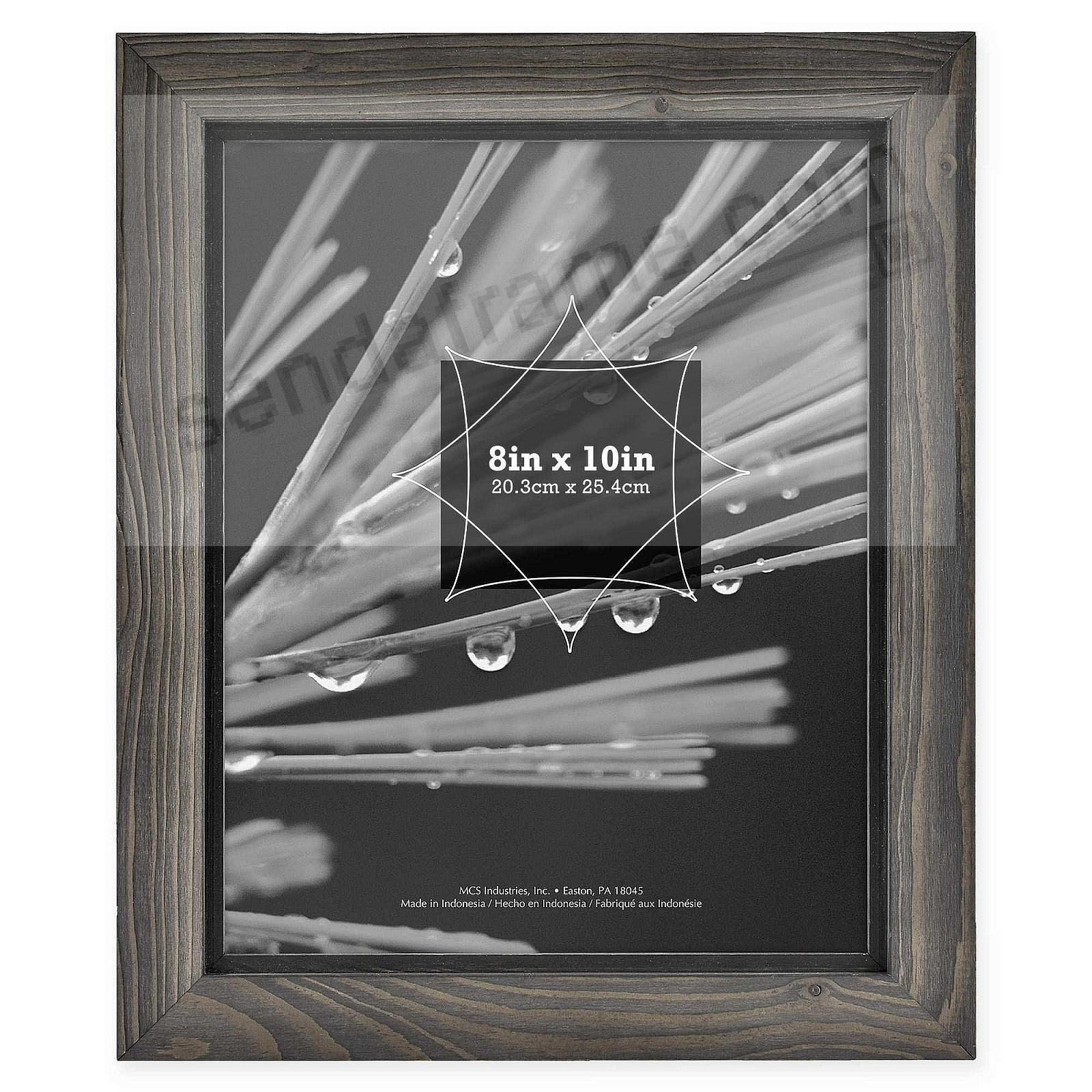 TIMBER Distressed Gray/Black Wood 8x10 Frame by MCS®