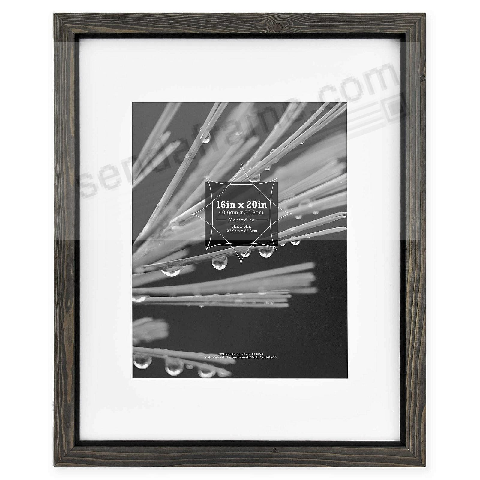 TIMBER Distressed Gray/Black Wood 16x20/11x14 Matted Frame by MCS®