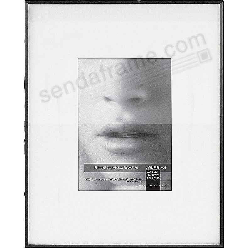 FINELINE Black Aluminum 11x14/5x7 Matted by Framatic®