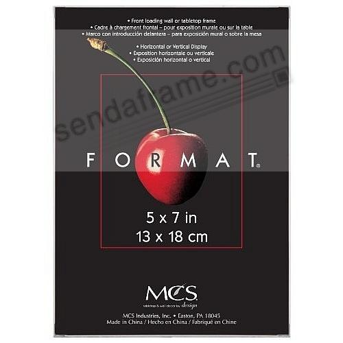 The ORIGINAL FORMAT FRONT-LOAD White 5x7 frame