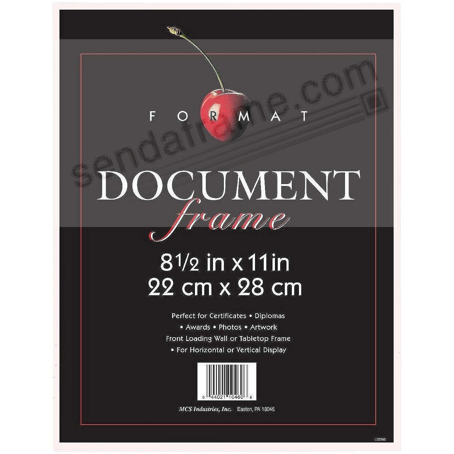 The ORIGINAL FORMAT FRONT-LOAD White 8½x11 frame