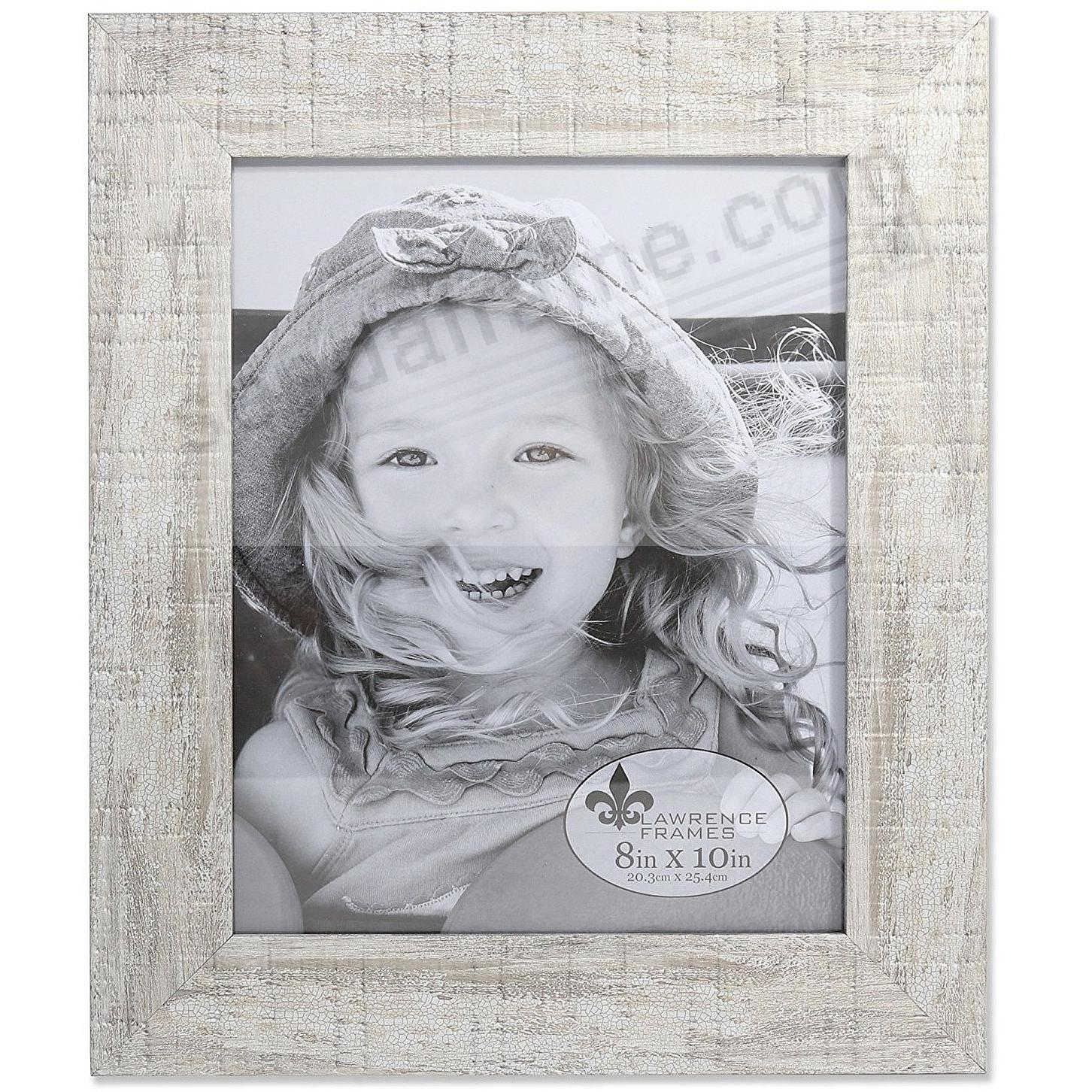 Weathered WHITE PEARLIZED MAPLE 8x10 frame by Lawrence®