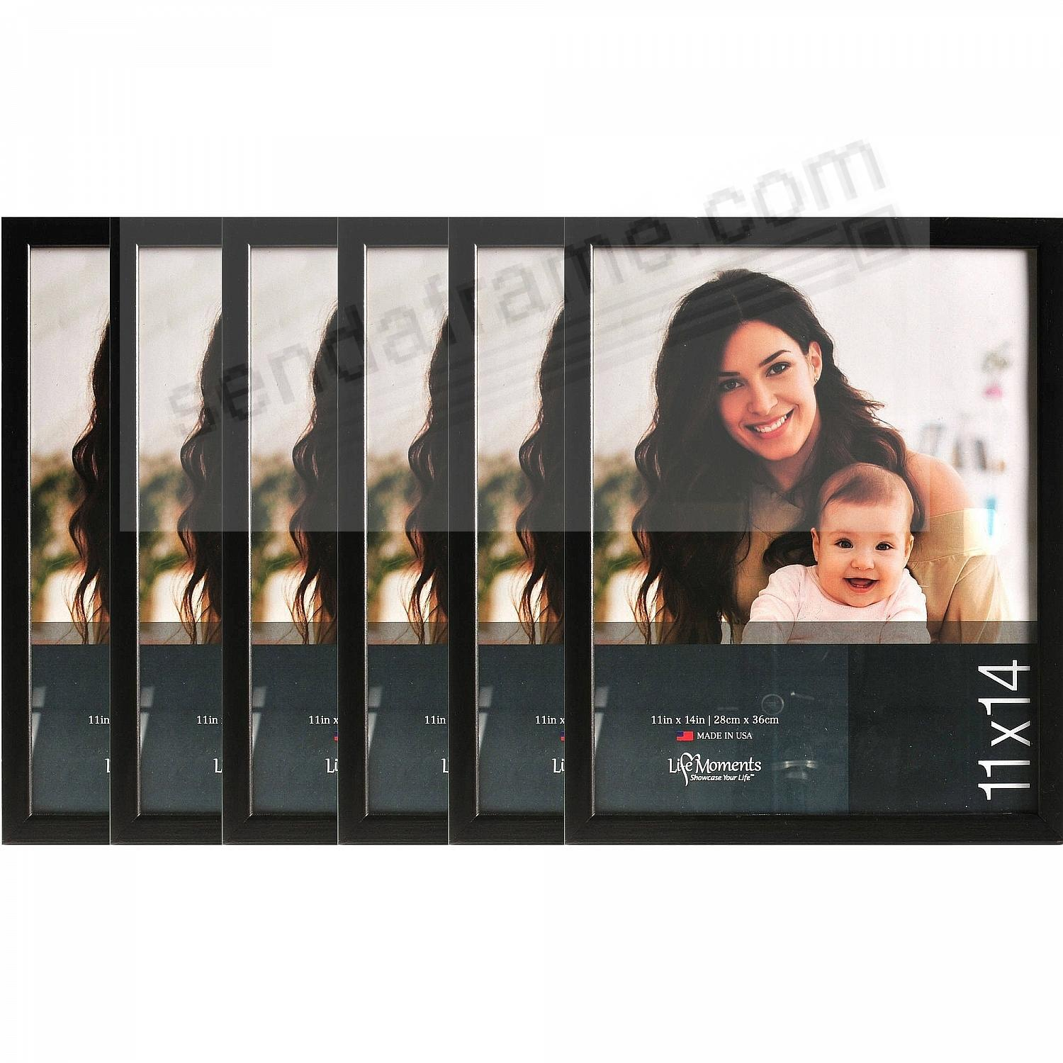 Solid Wood Black Finish 11x14 favorite by LIFE MOMENTS® (6 Pack)