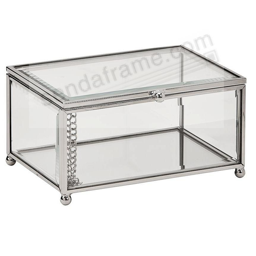 CLARO Glass 5½x4x2¾ Storage Box