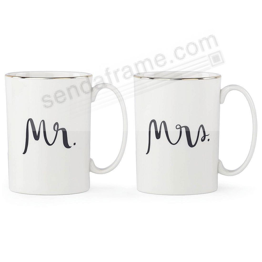 MR + MRS MUG SET BRIDAL PARTY by kate spade new york®