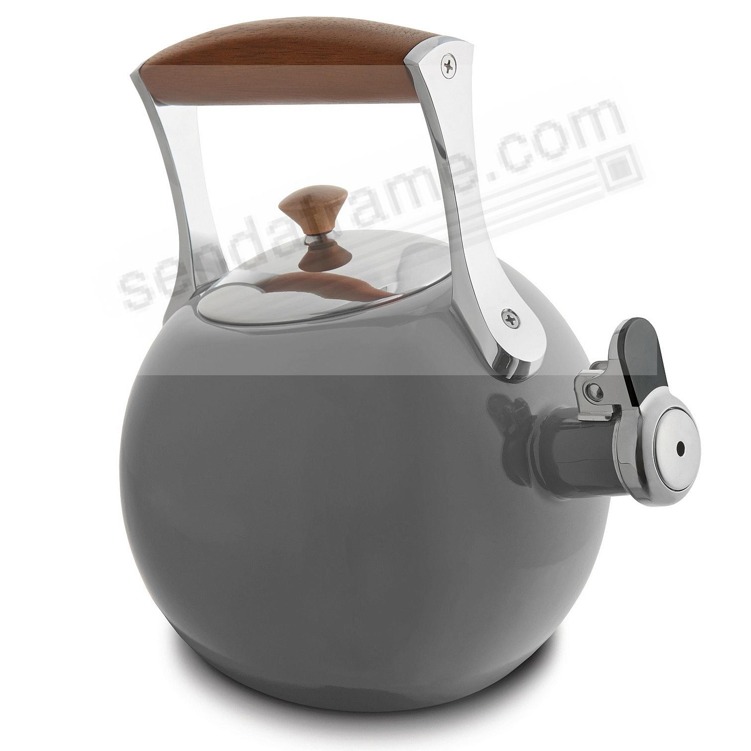 The Original MERIDIAN WHISTLING TEA KETTLE - SLATE-GRAY - crafted by Nambe®