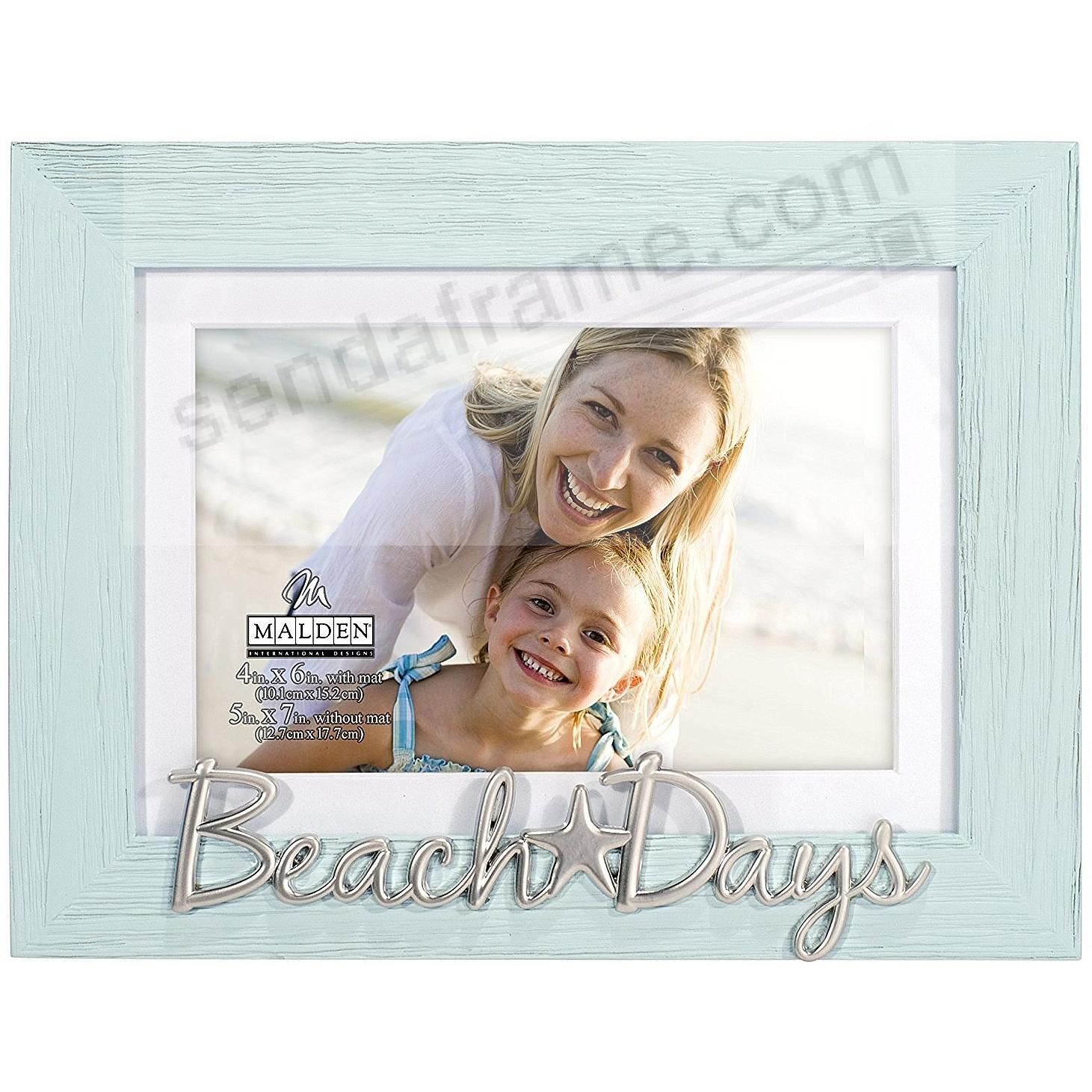 BEACH DAYS Distressed Wood 5x7/4x6 Frame Sign by Malden®
