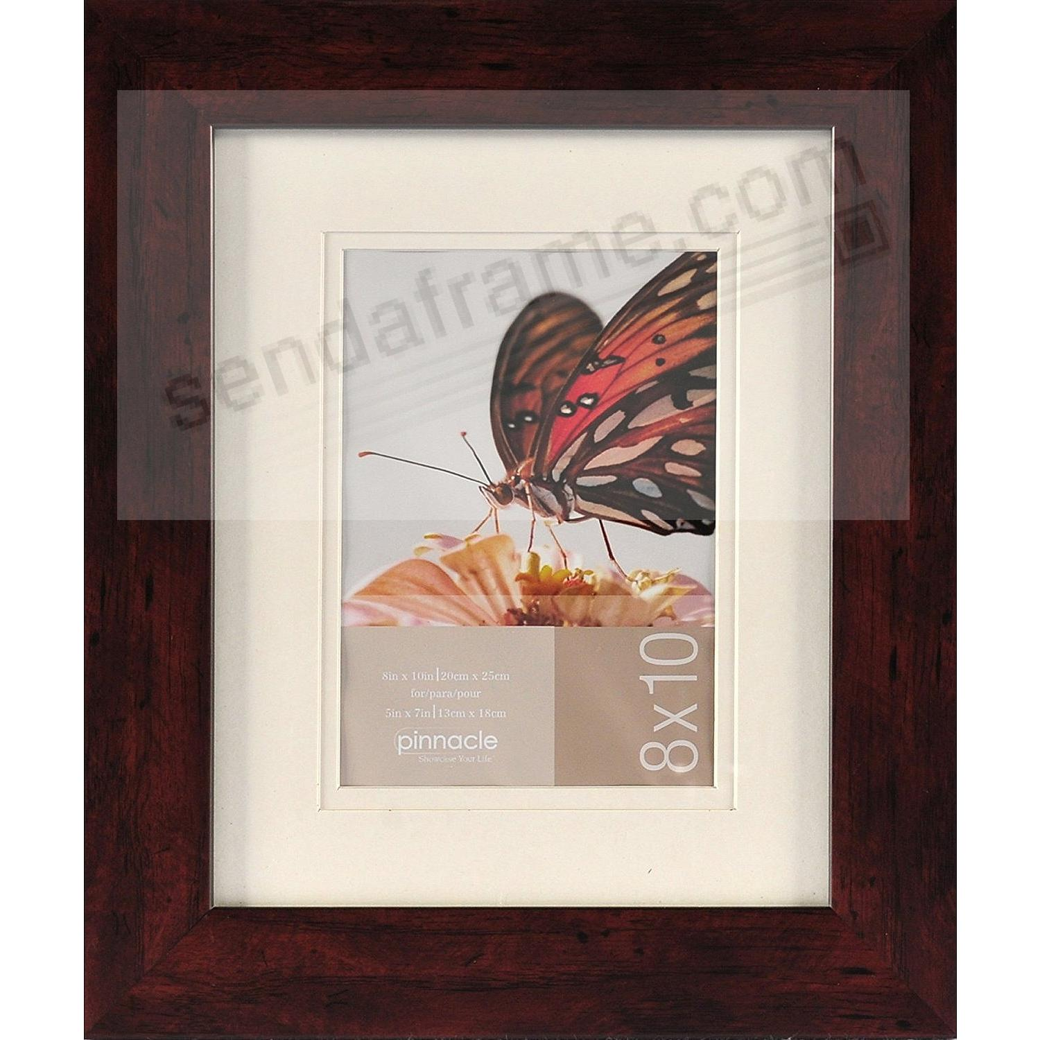 Walnut Wood Wall Frame matted 8x10/5x7 by Pinnacle™
