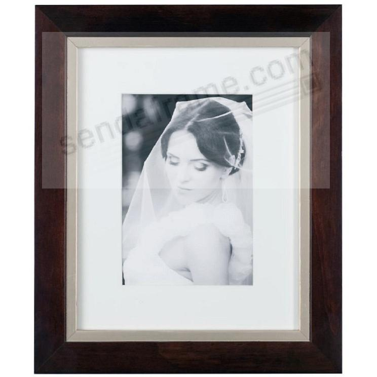 TAYLOR Walnut/Brushed-Gold matted wood frame 11x14/8x10 from ARTCARE by Nielsen®