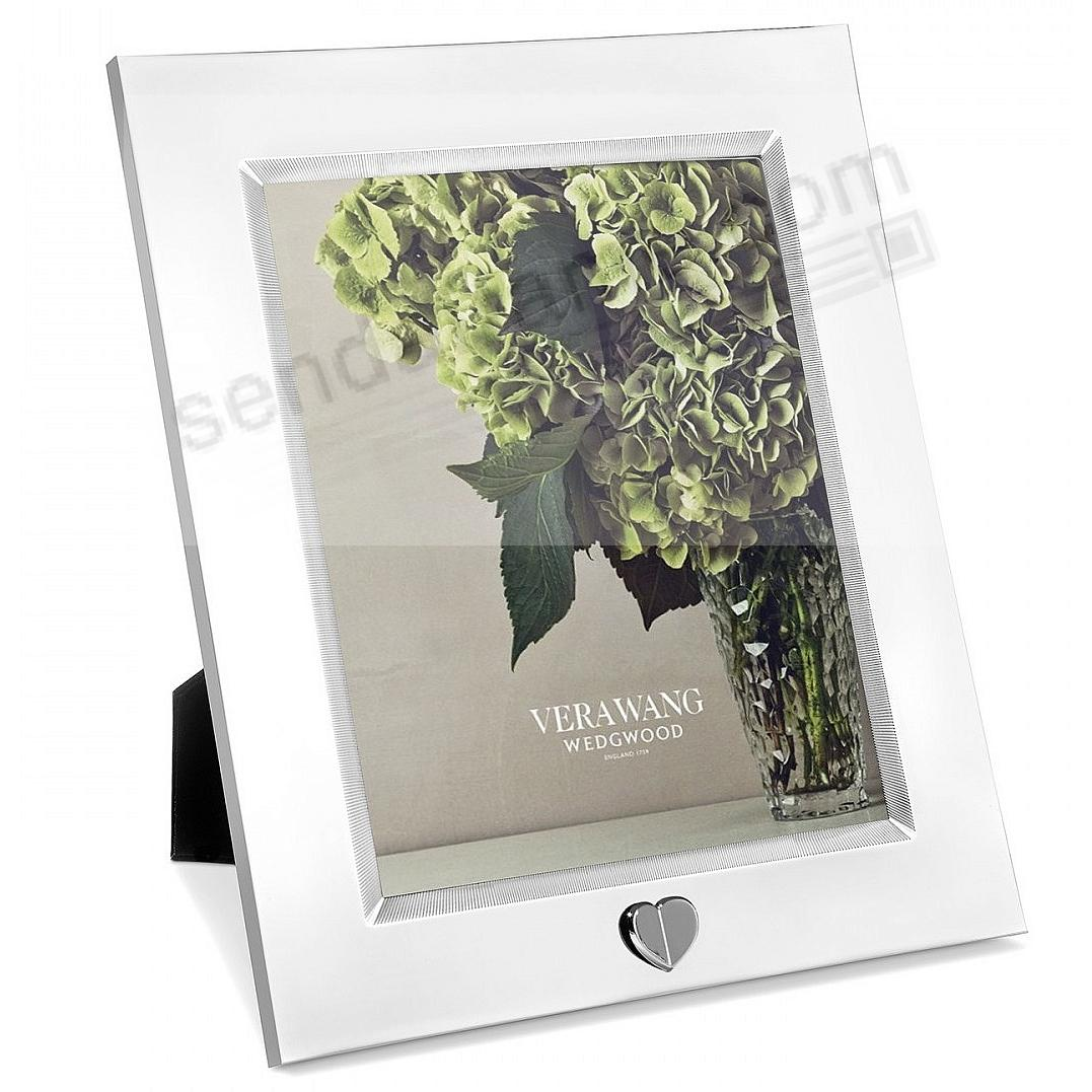 LOVE ALWAYS SILVER HEART 8x10 by Vera Wang Wedgwood®