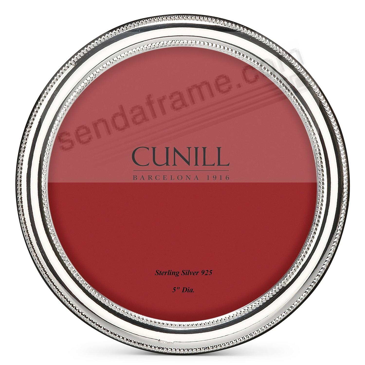 BEADED ROUND Fine Sterling Silver 5x5 frame by Cunill®