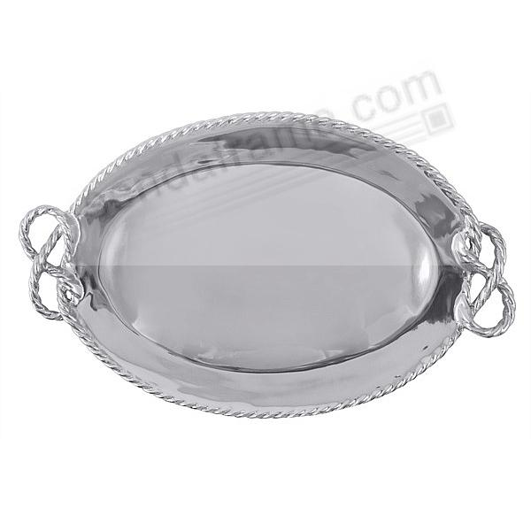 ROPE HANDLES OVAL SERVING TRAY by Mariposa®