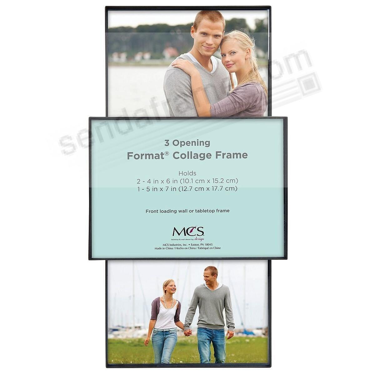 3-OPENING FORMAT COLLAGE FRONT-LOAD Black Frame