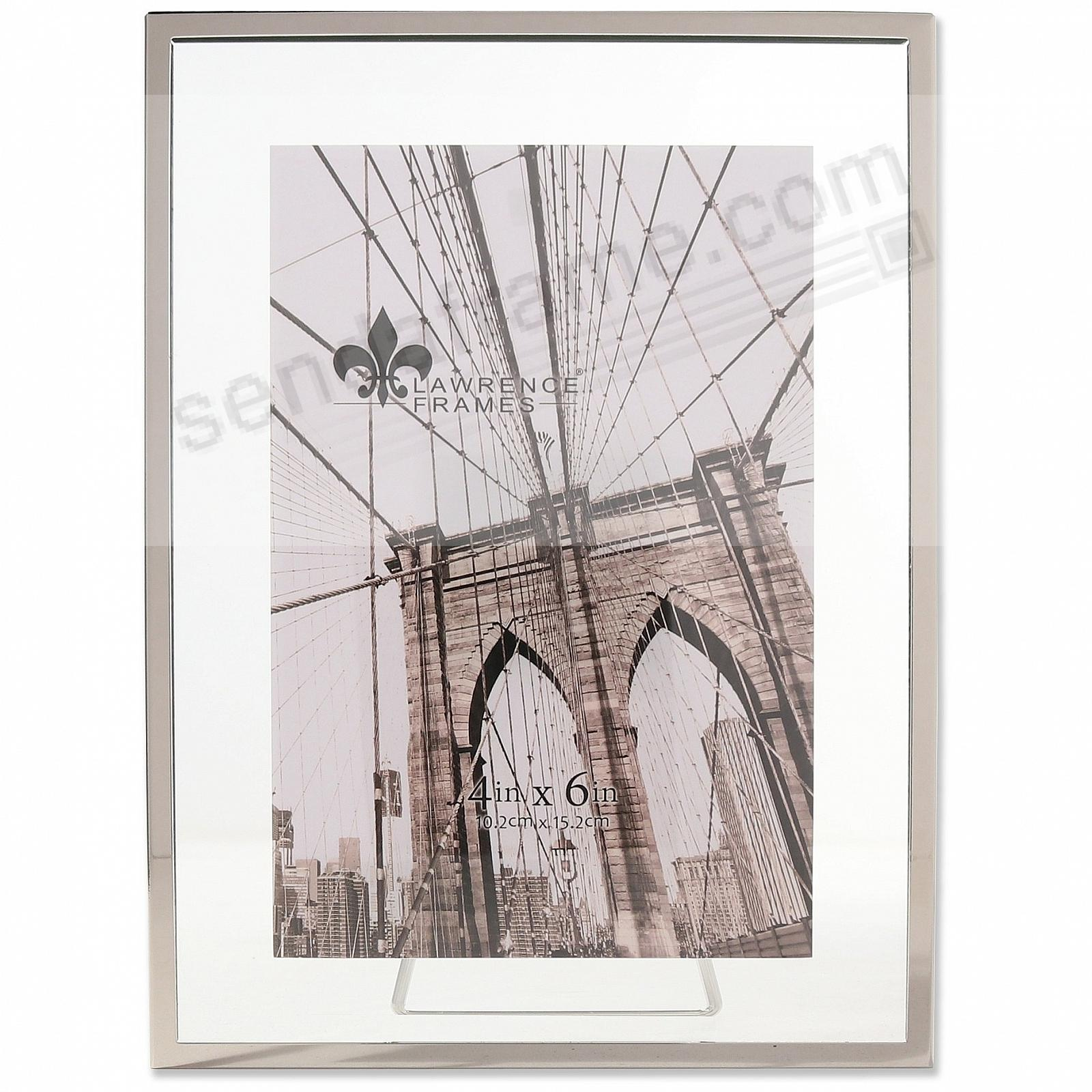 GARETT SILVER Metal Float 4x6 Frame by Lawrence®
