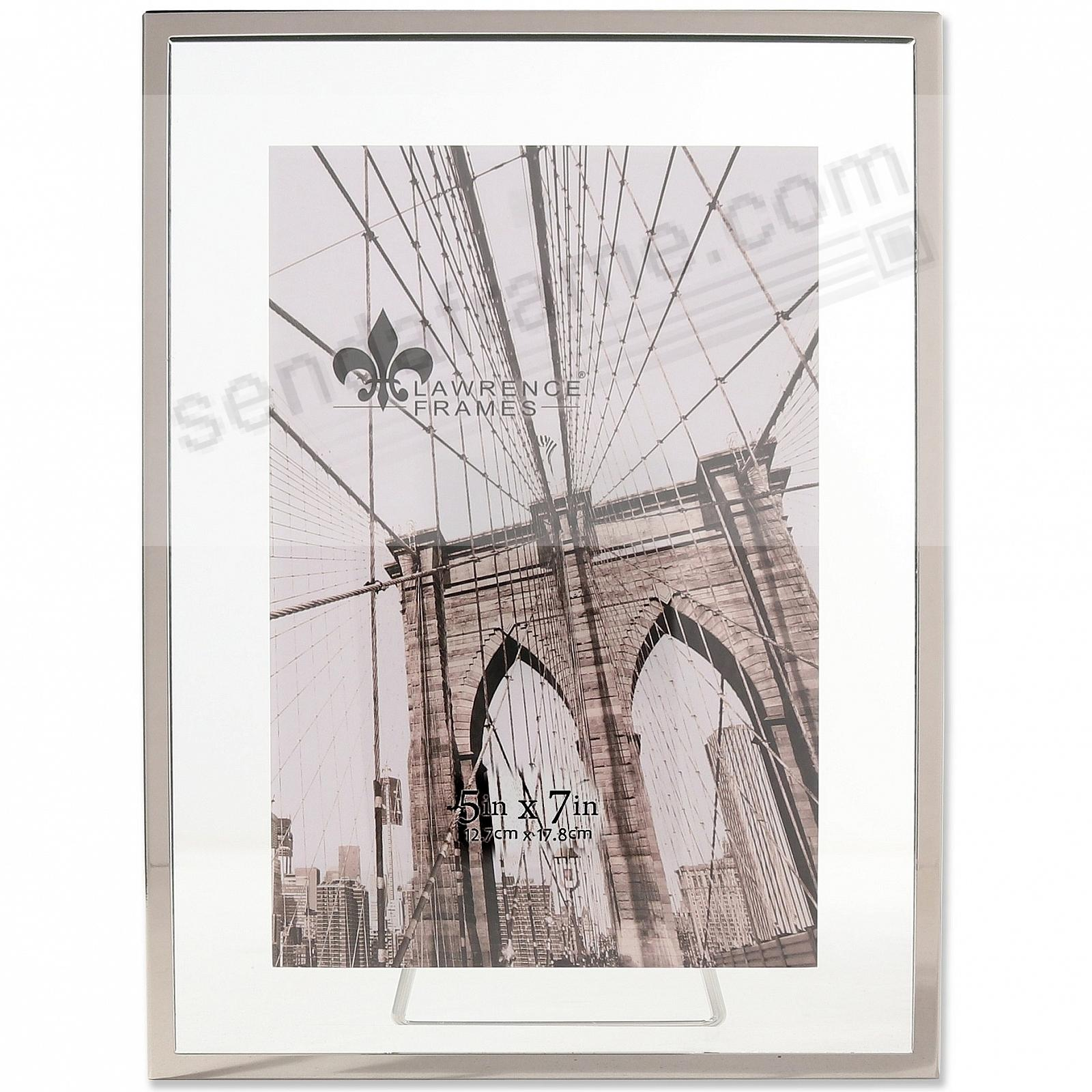 GARETT SILVER Metal Float 5x7 Frame by Lawrence®