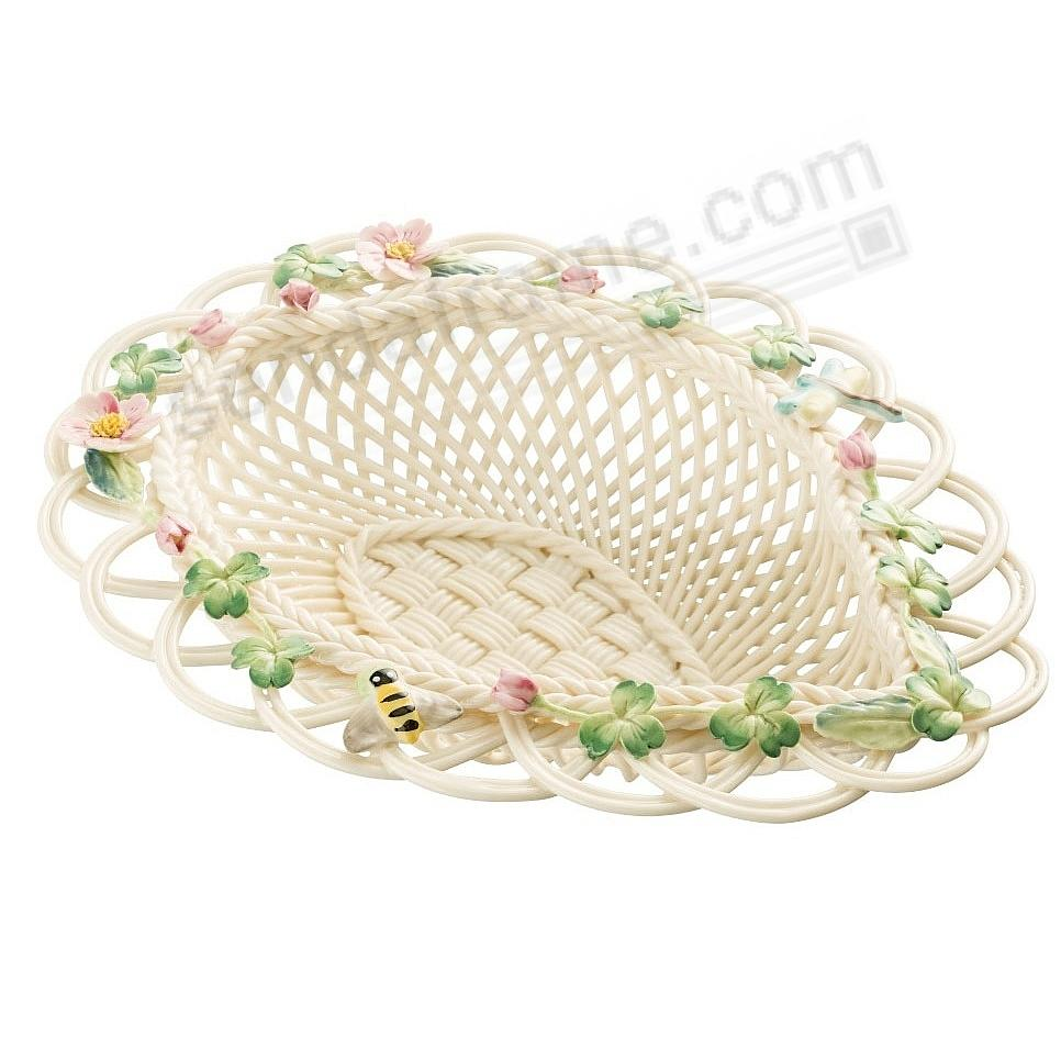 WILD ROSE LEAF Irish Porcelain Basket by Belleek®