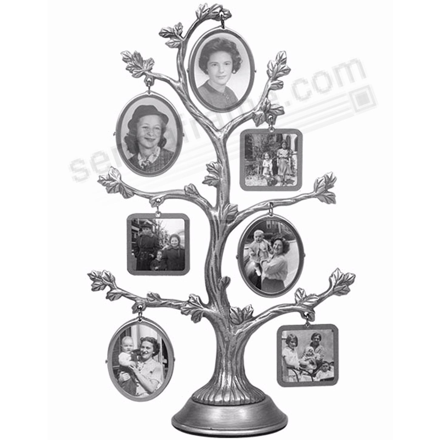Wallverbs Family Tree Personalized Picture Frame Set: Pewter 14-opening Family Tree By Malden®