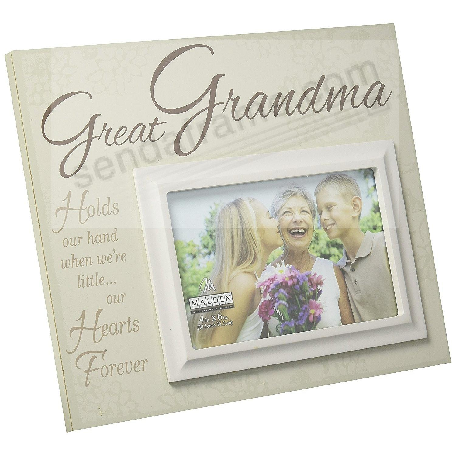 GREAT GRANDMA QUOTATION SCRIPT keepsake frame