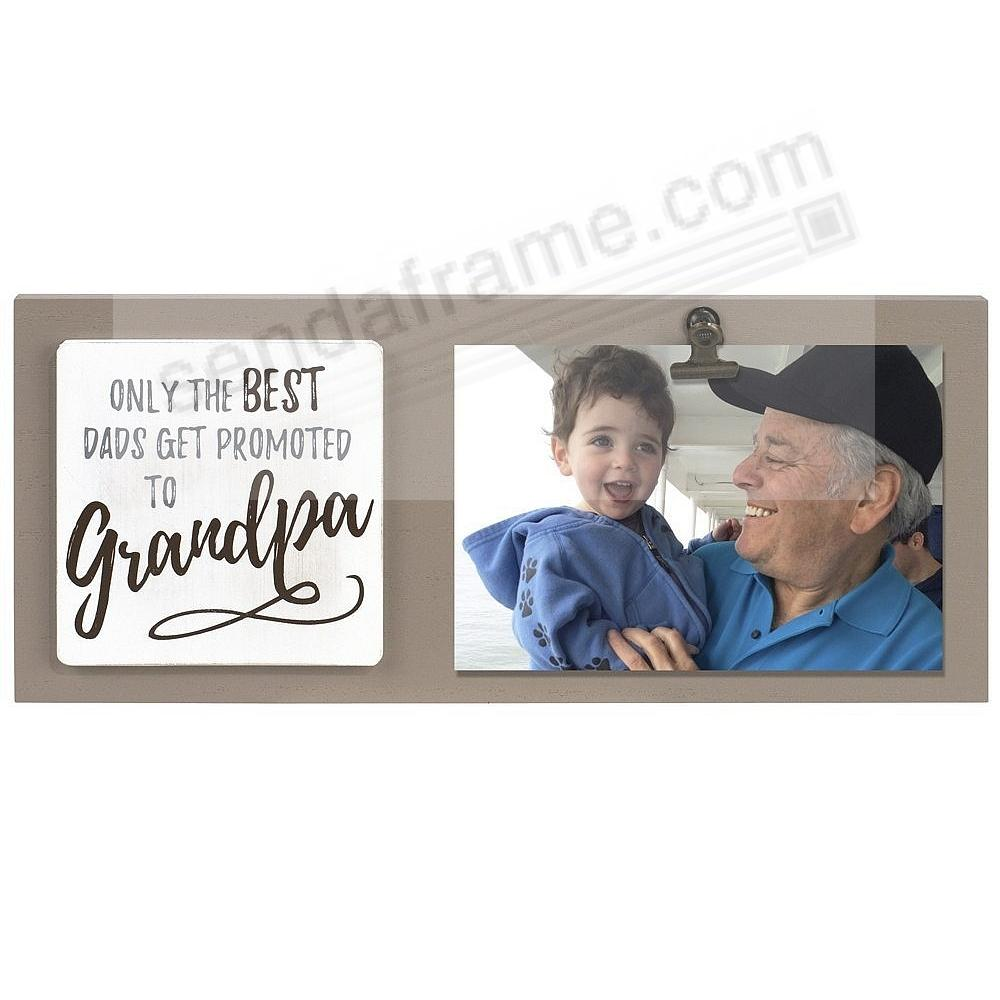 BEST DADS PROMOTED TO GRANDPA Clip Frame by Malden®