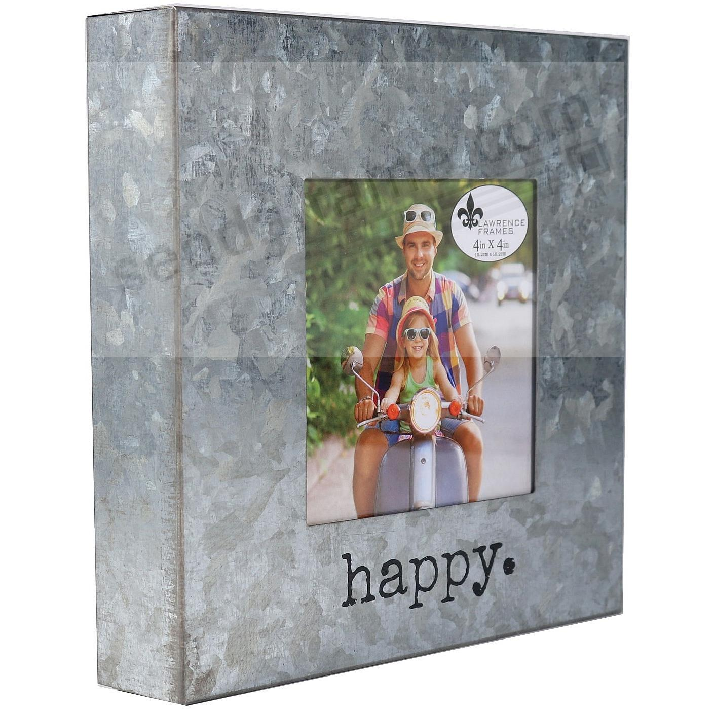 HAPPY Galvanized Metallic 4x4 Block Frame