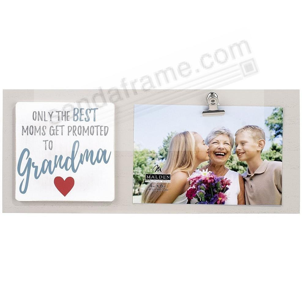 BEST MOMS GET PROMOTED TO GRANDMA Clip Frame by Malden®