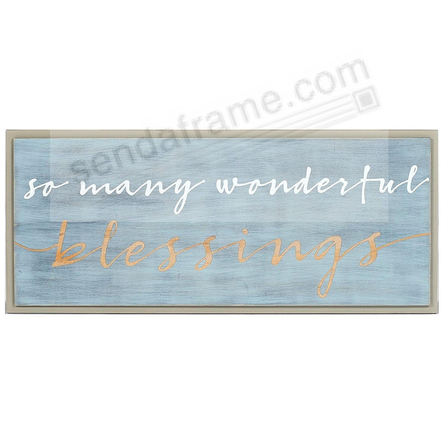 SO MANY WONDERFUL BLESSINGS 16x7 Expressions Sign