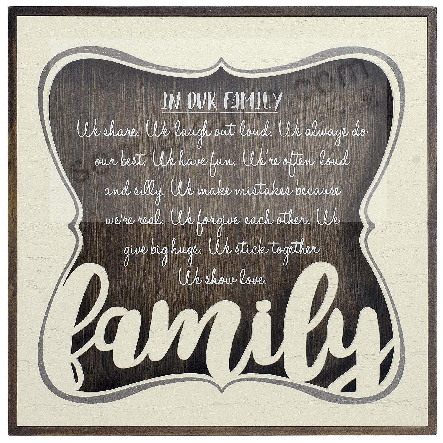 IN OUR FAMILY Box Sign by Malden®