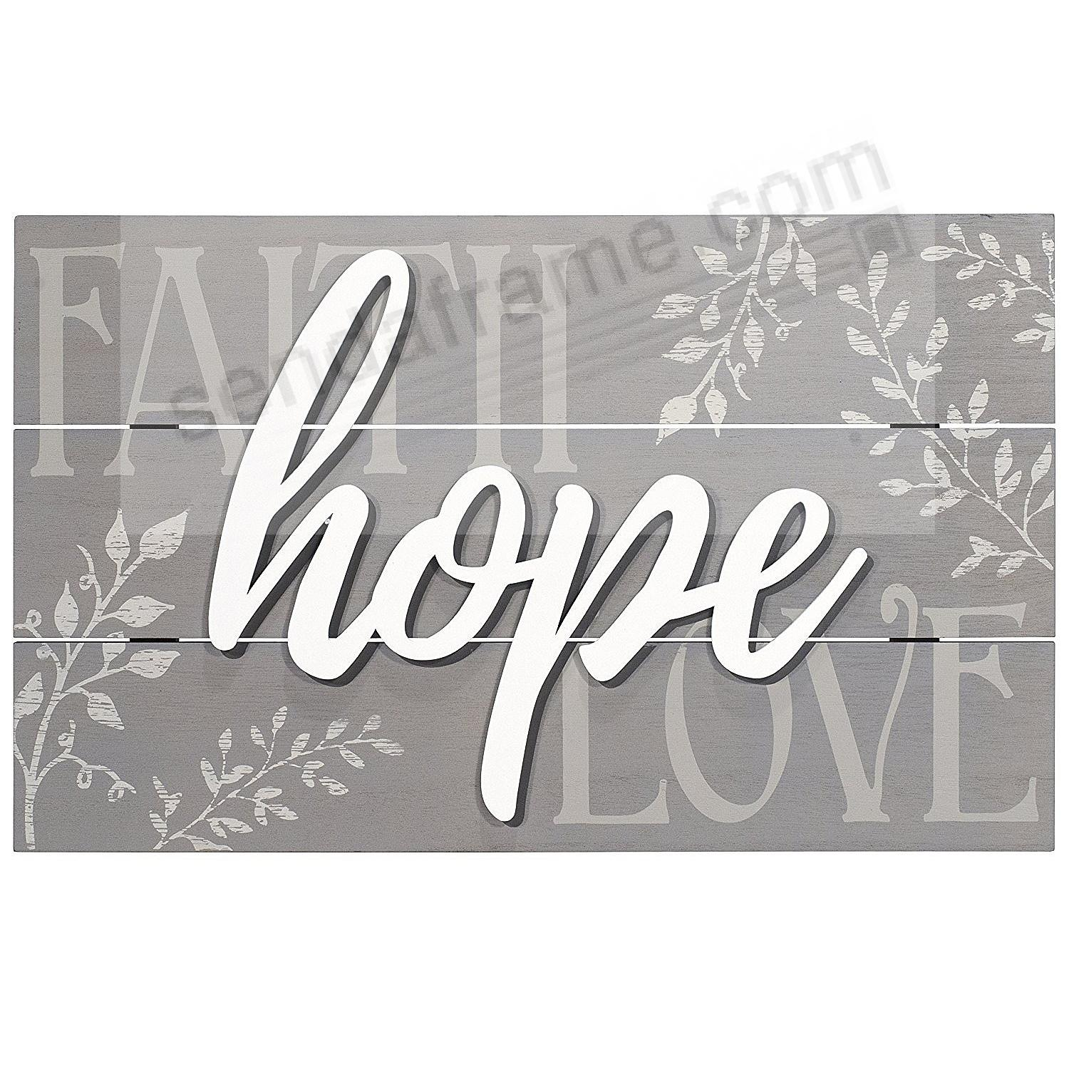 FAITH - HOPE - LOVE Box Sign 18x11 by Malden®