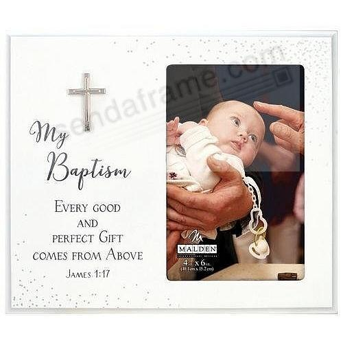 MY BAPTISM w/SILVER CROSS Frame Decor by Malden®