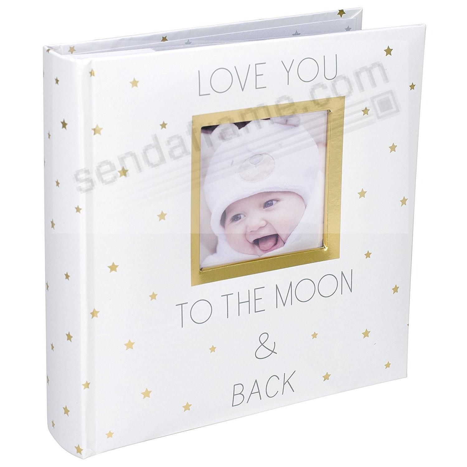 LOVE YOU TO THE MOON AND BACK brag-book photo album 2-up display by Malden®