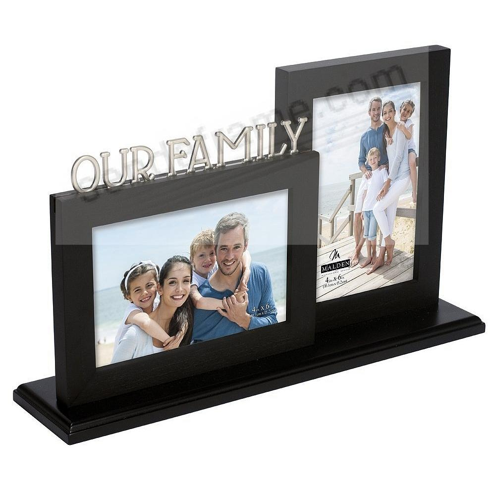 OUR FAMILY 3-Photo Family Stand by Malden USA®
