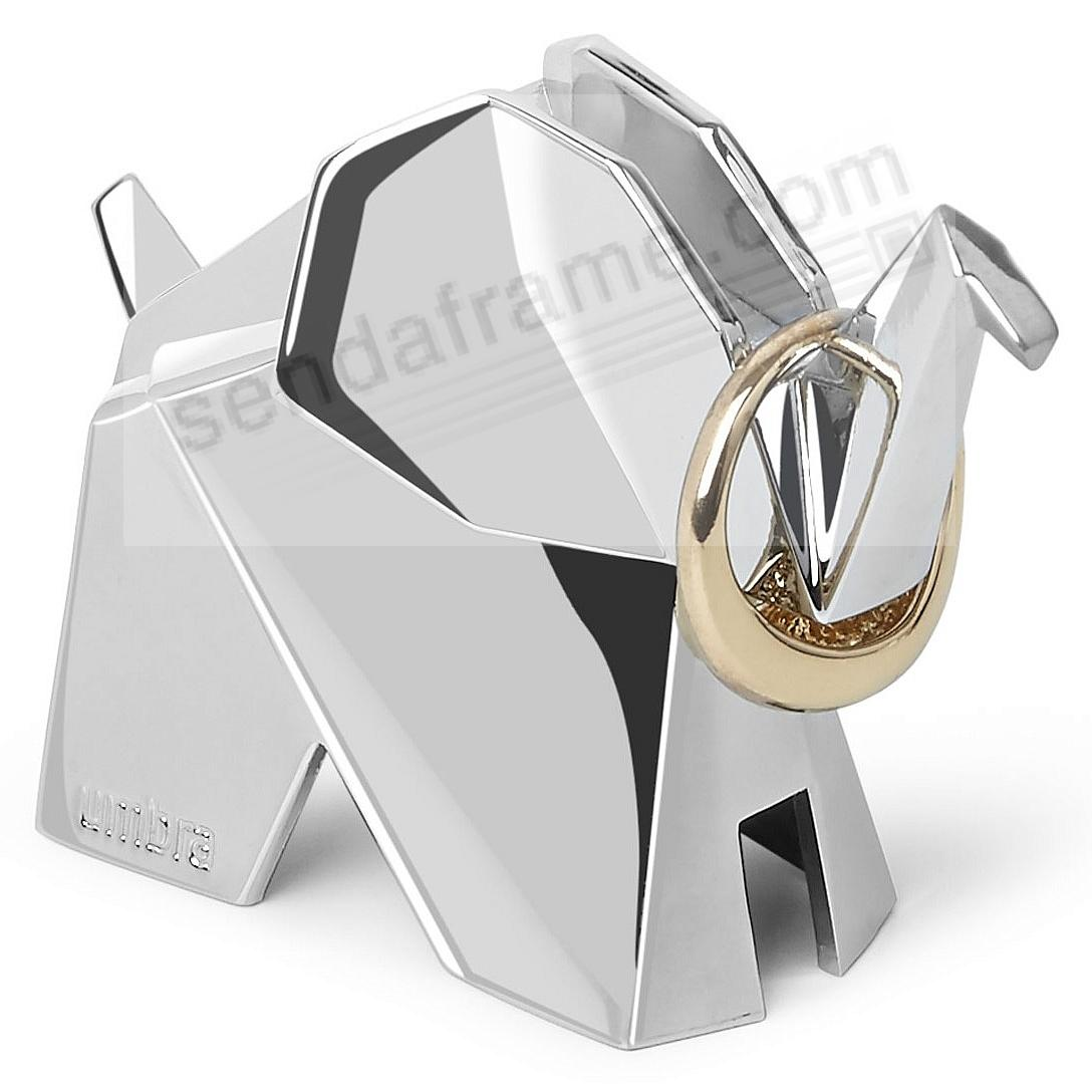 ORIGAMI ELEPHANT Chrome Ring Holder by Umbra®