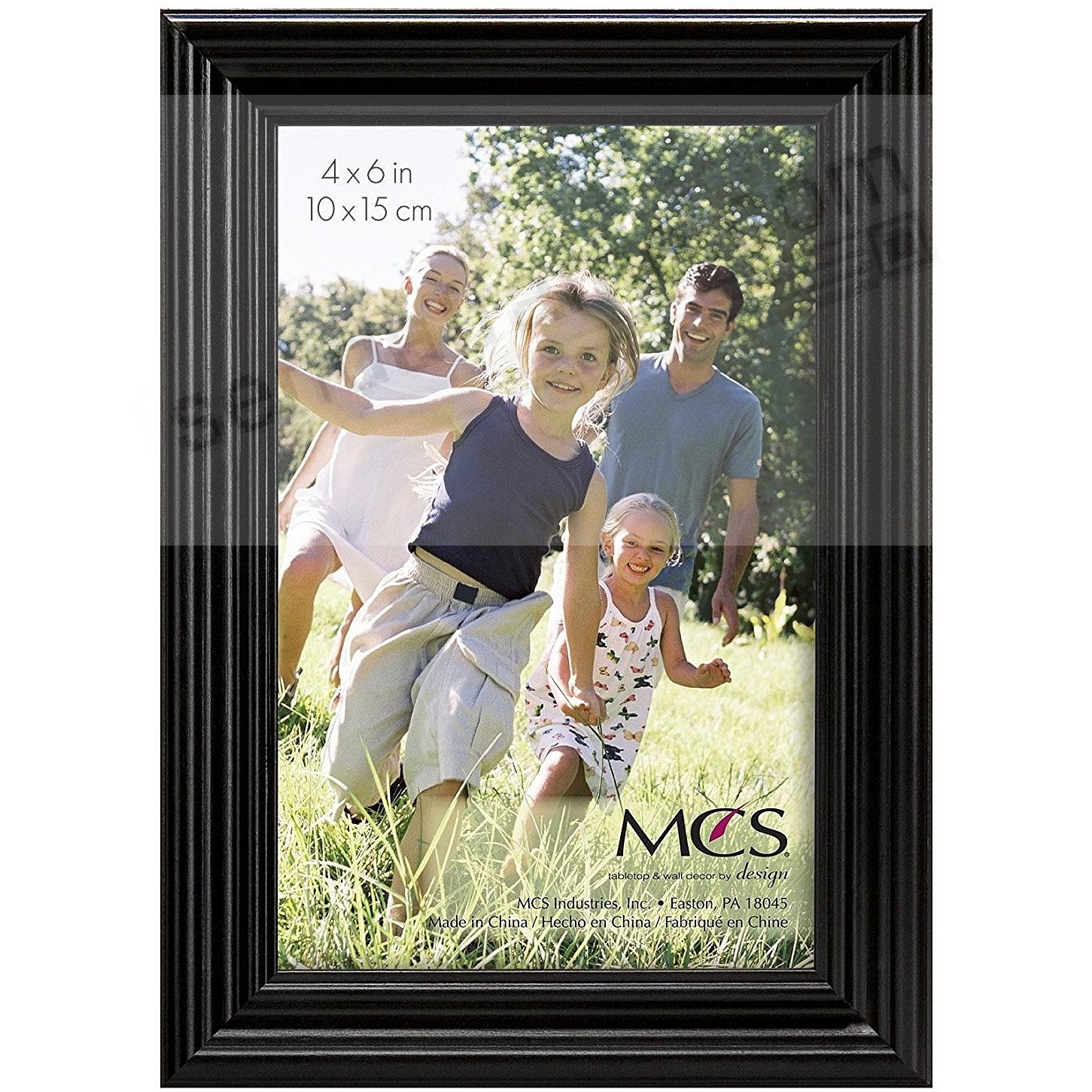 STYLE ONE Black Solid Wood 4x6 frame from MCS®