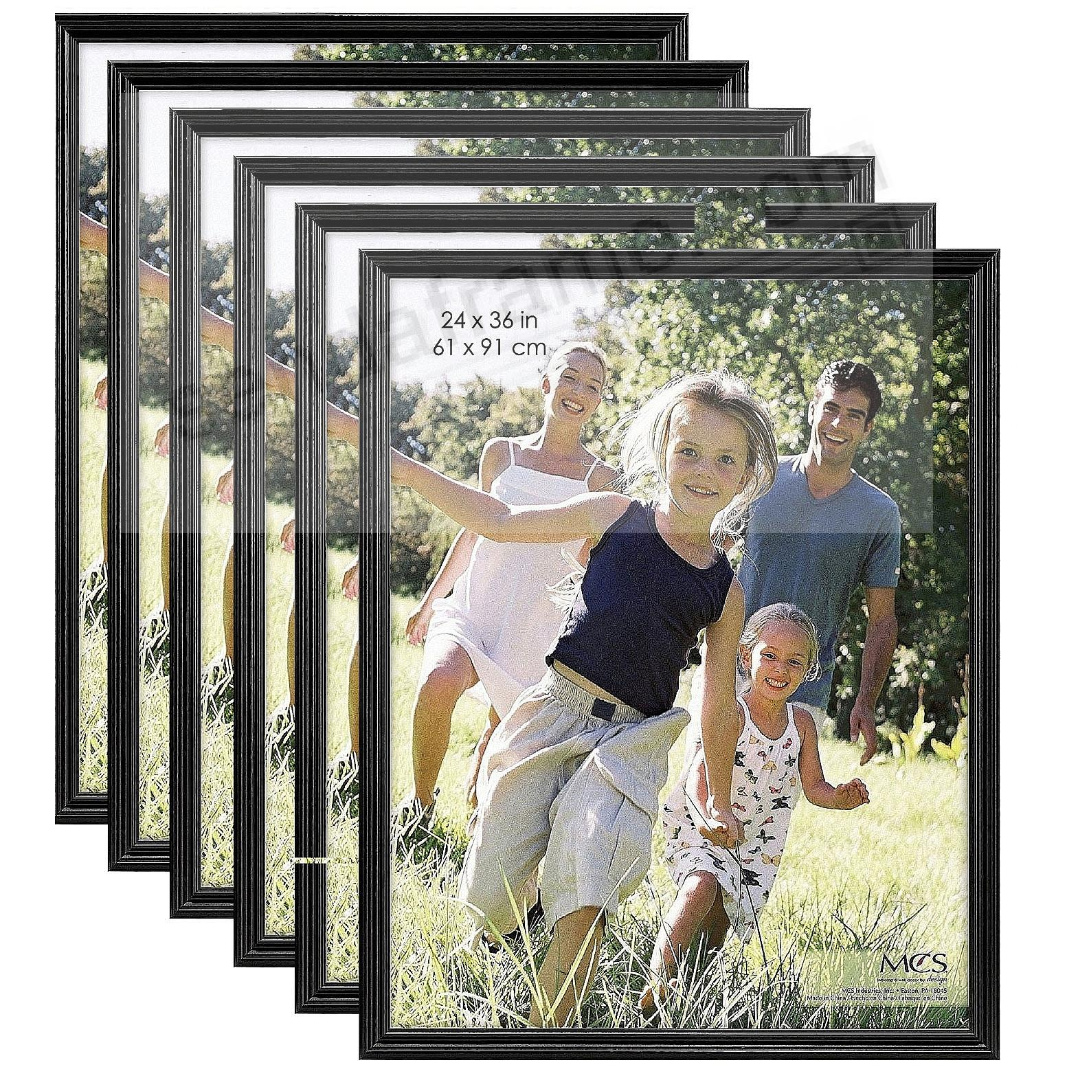 STYLE ONE Black solid wood wall frame from MCS® - (6 Pack)