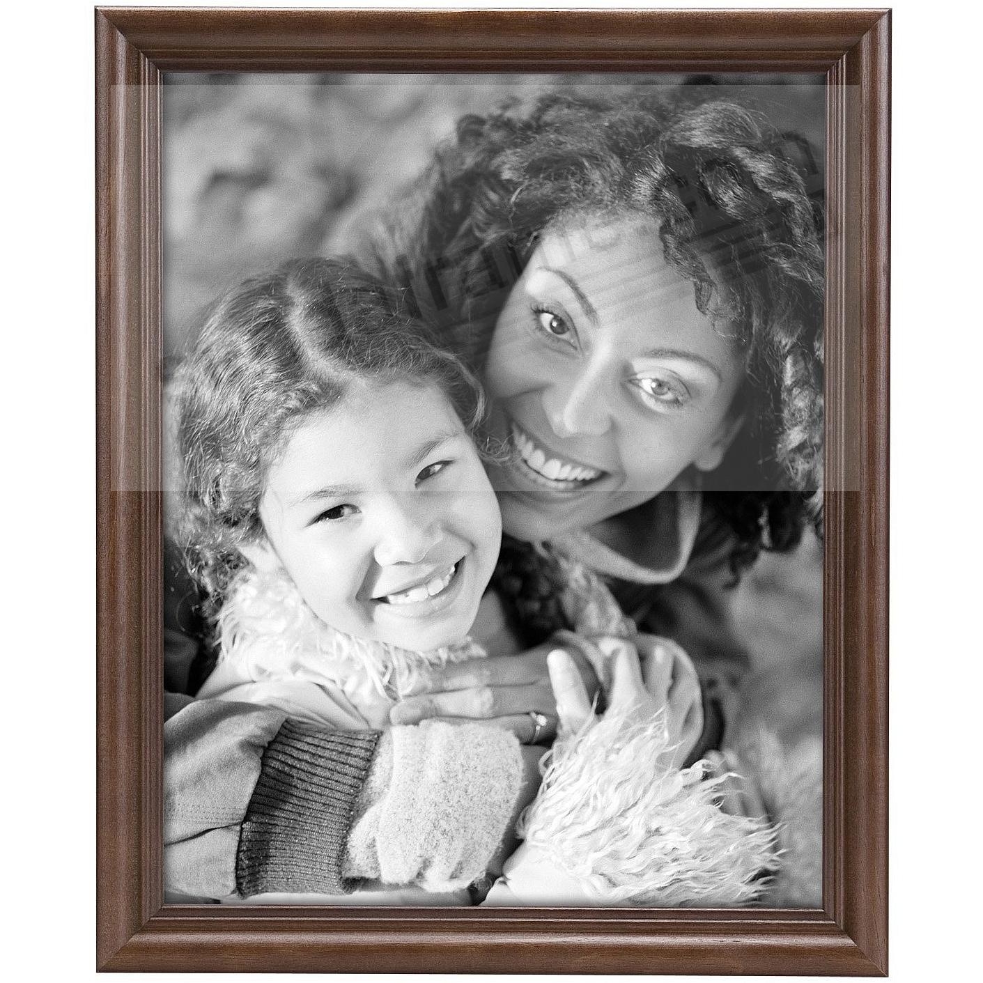 STYLE TWO Walnut Solid Wood 5x7 frame from MCS®