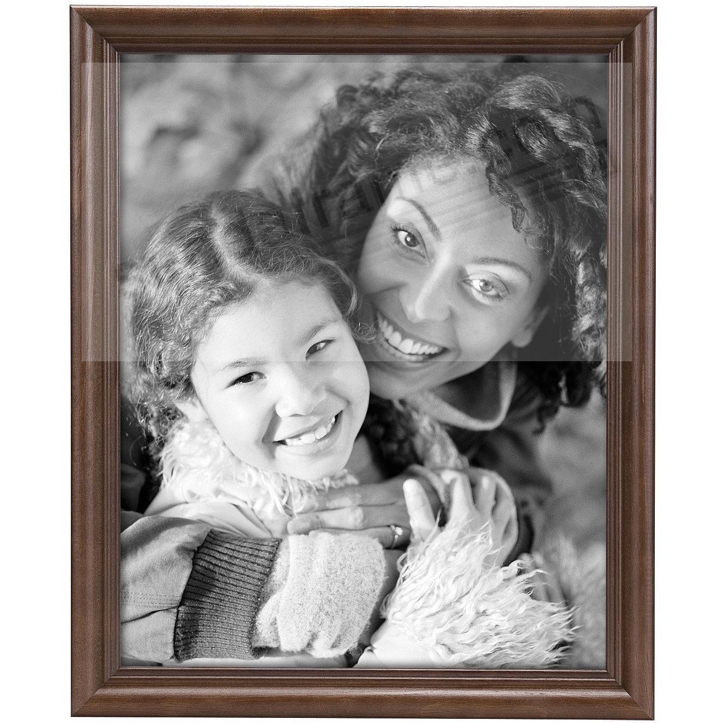 STYLE TWO Solid Wood Walnut 8x10 frame from MCS®