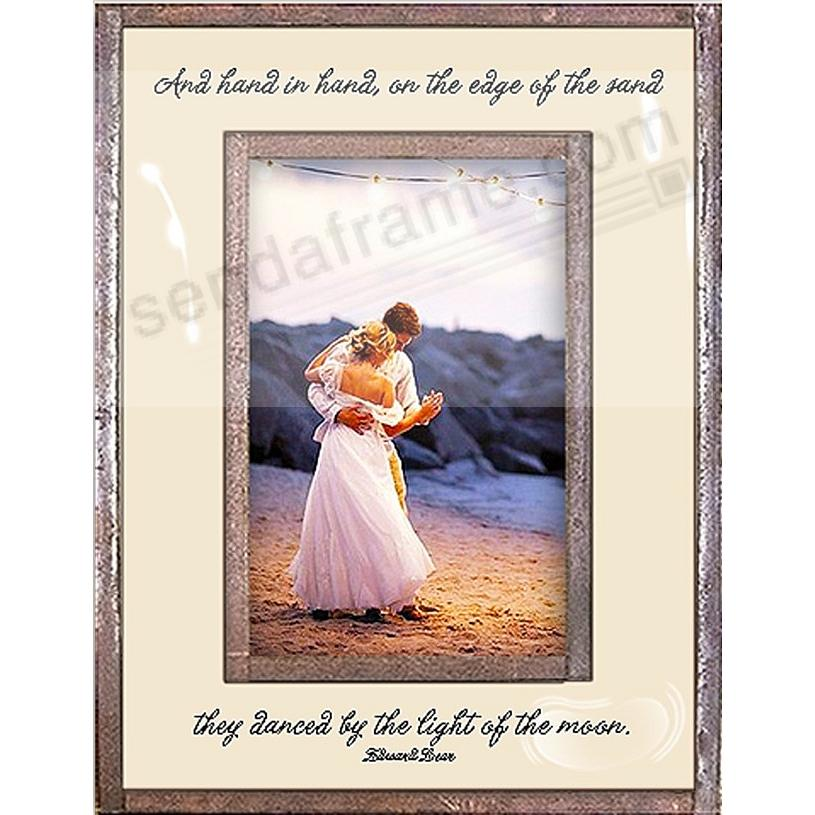 Hand In Hand on the edge of the Sand...  Copper + Clear Glass Frame by Ben's Garden®