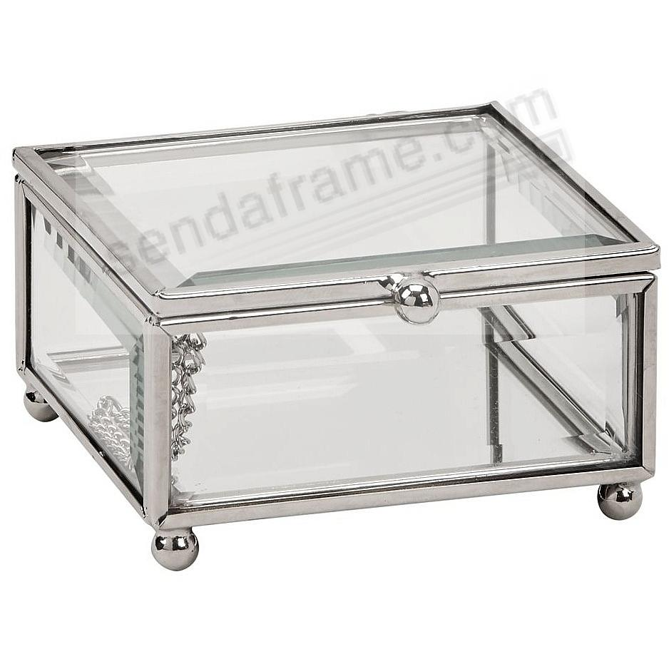 Our Silver/Glass Box 3½x3½x2 for special item Safekeeping