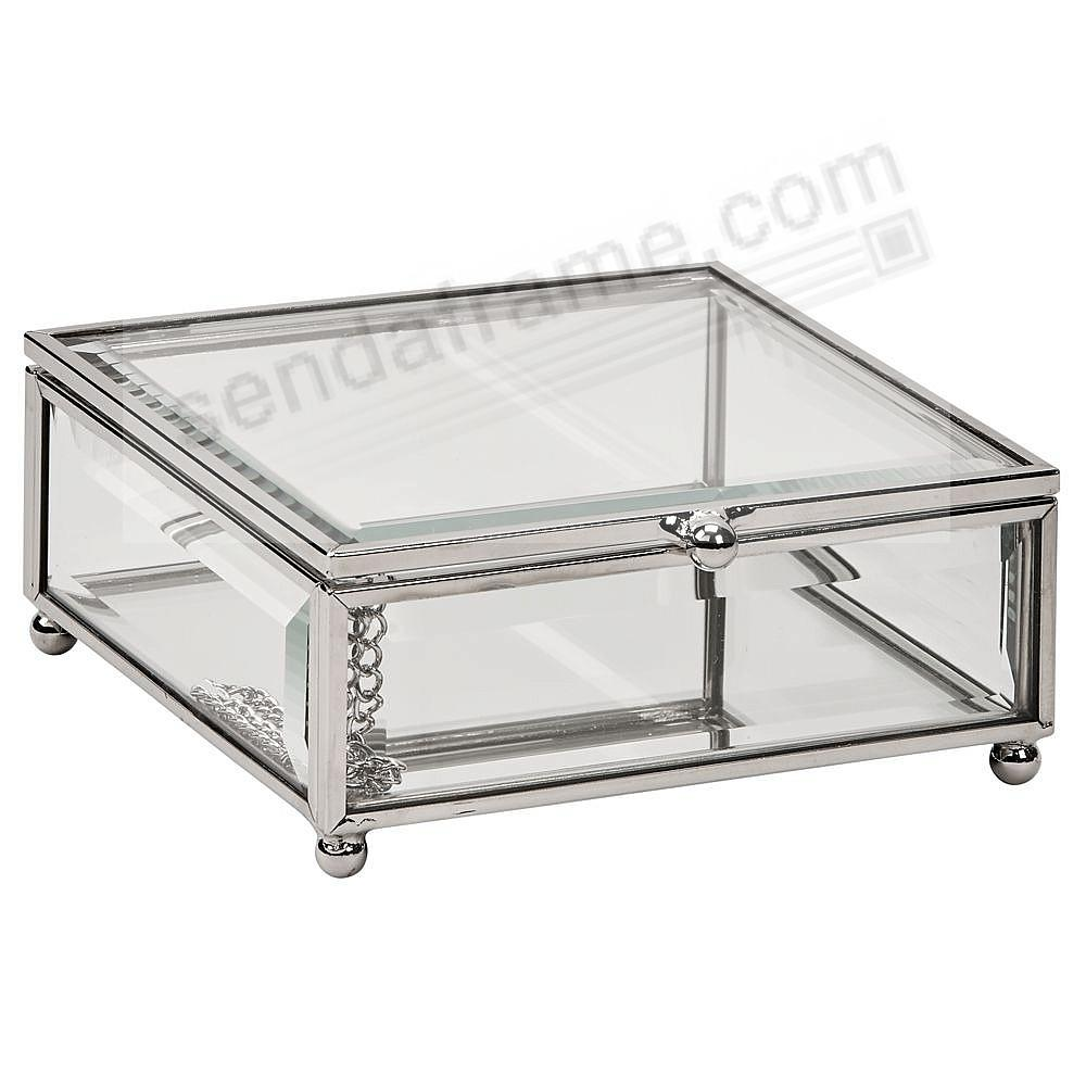 Our Glass Box 4¾x4¾x2 for special item Safekeeping
