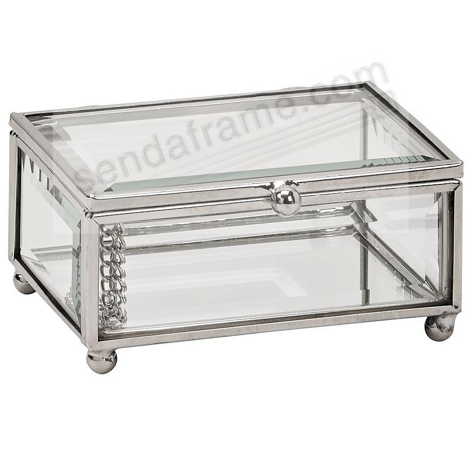 Our Glass / Silver Box 4x3x2 for special item Safekeeping