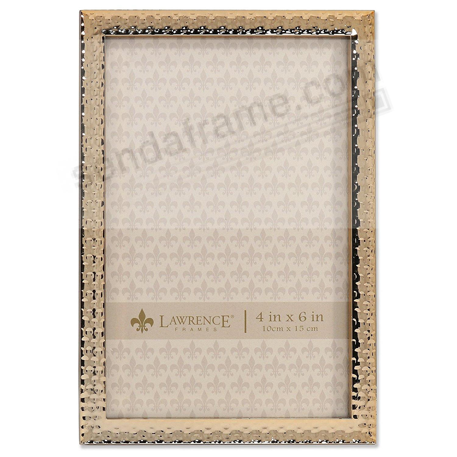 Hammered Gold finish 4x6 frame by Lawrence®