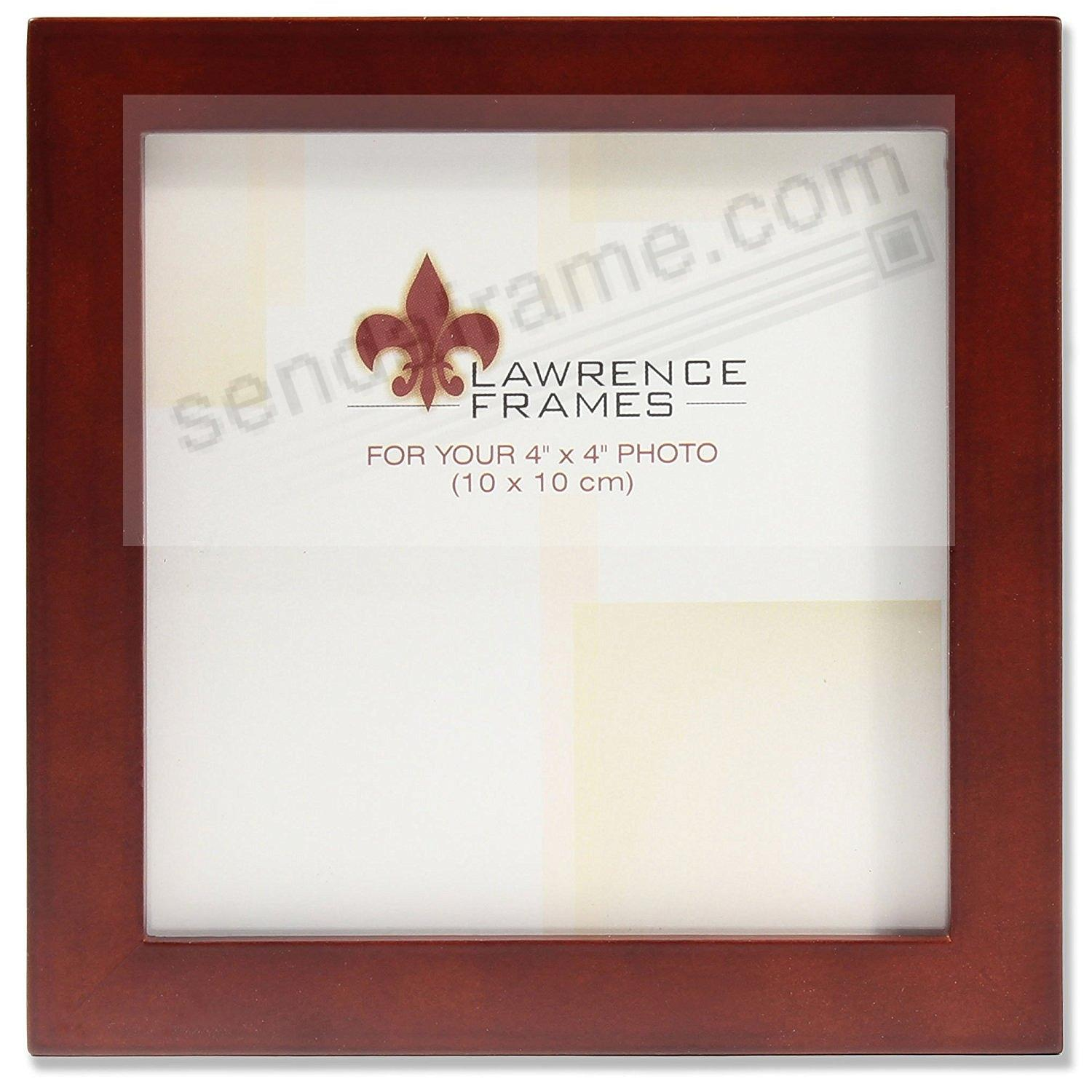 Dark Walnut square-corner 4x4 frame by Lawrence®