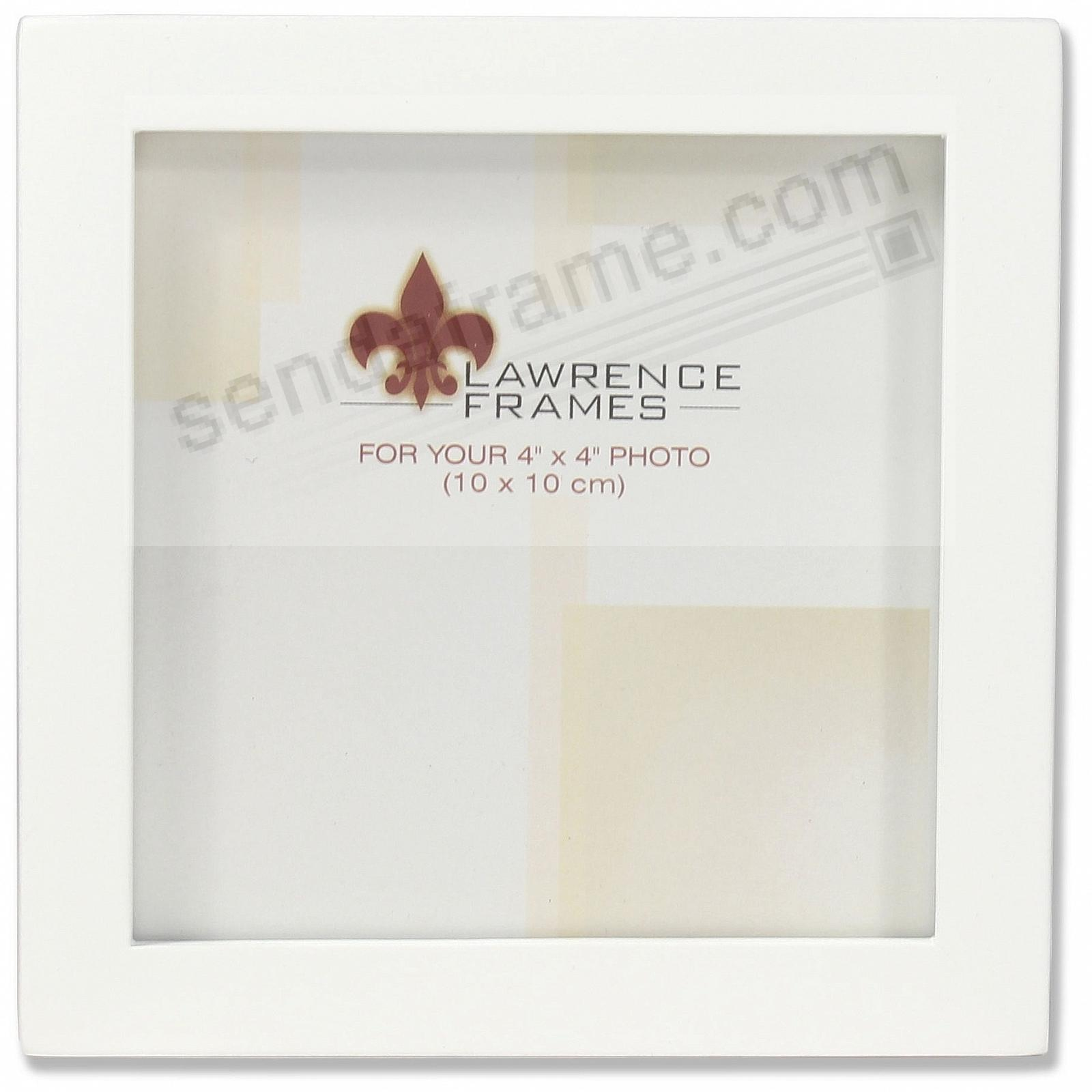 White square-corner frame 4x4 by Lawrence®