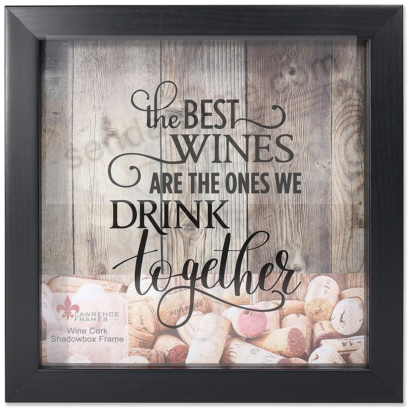 WINE CORK HOLDER Black ShadowBox 10x10 frame by Lawrence®
