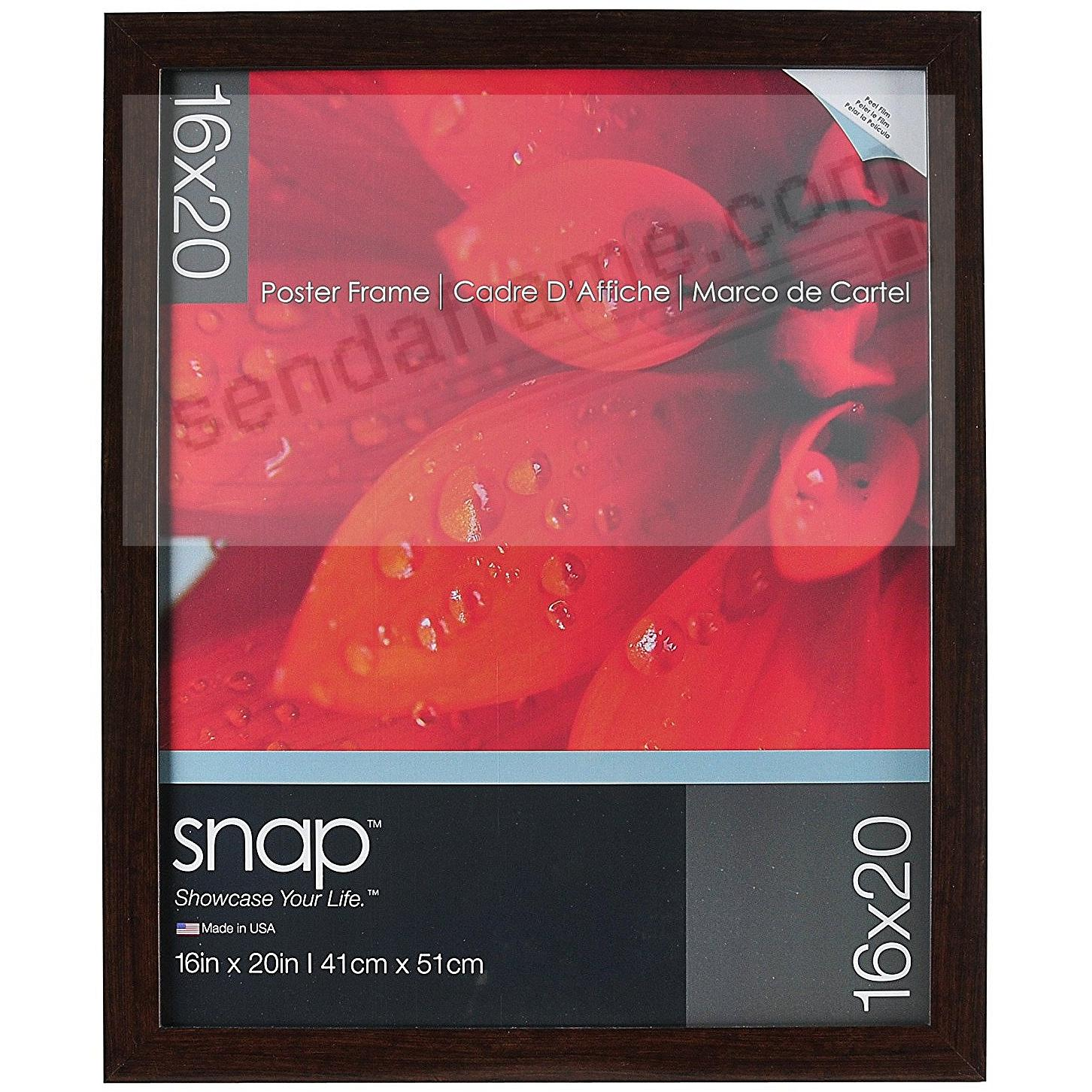 SNAP® Ashwood Brown Poster 16x20 Frame
